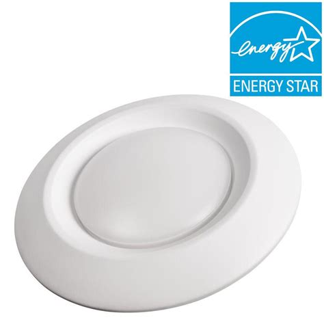 led recessed ceiling lights home depot commercial electric 6 in white recessed led can disk
