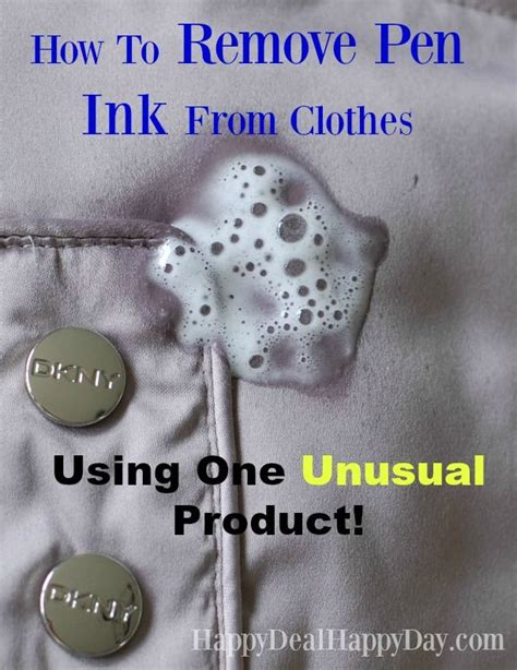 how to remove pen ink from clothes using one unusual product ink texts and clothes