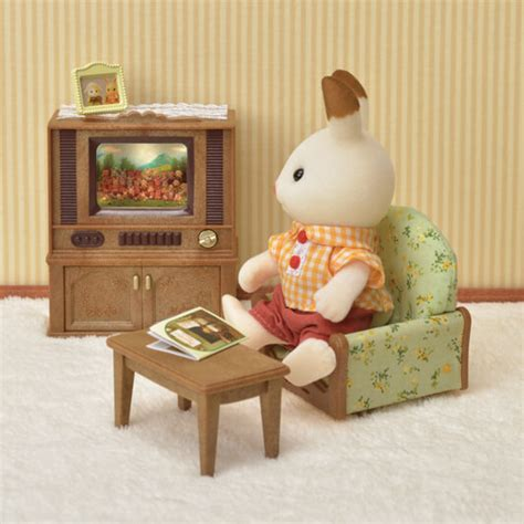 Sylvanian Families Living Room Set Living Room Tv Set Sylvanian Families