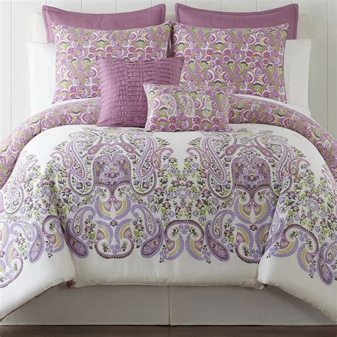 cheap roselle lilac 5 pc comforter set offer bedding
