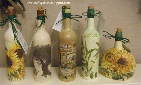 Can You Decoupage Glass - elves crafts gallery glass bottles decoupage