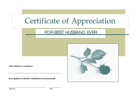 best certificate templates free 7 best images of printable gift certificates for husband