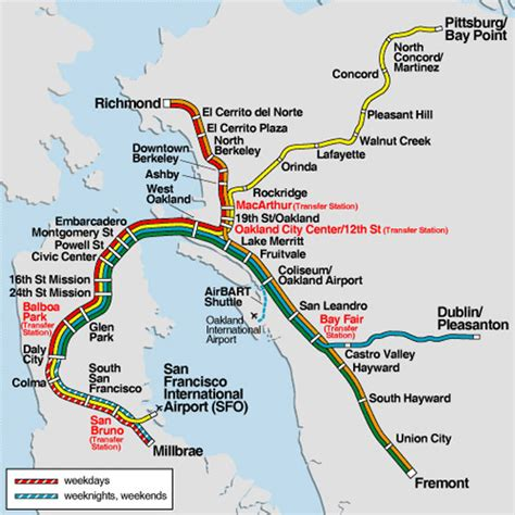 san francisco map with bart 301 moved permanently
