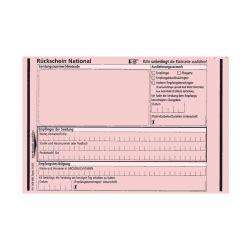 Einschreiben Aufkleber Kaufen by 100er Pack R 252 Ckschein National Rosa Aufkleber Shop