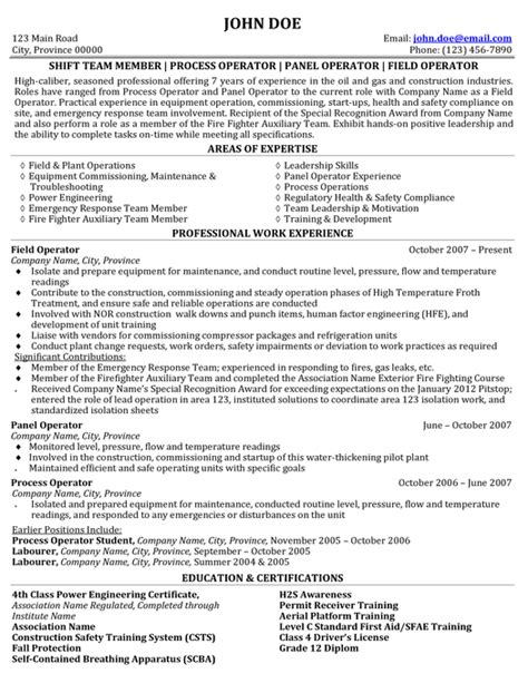 resume format for experienced and gas industry expert global gas resume writer