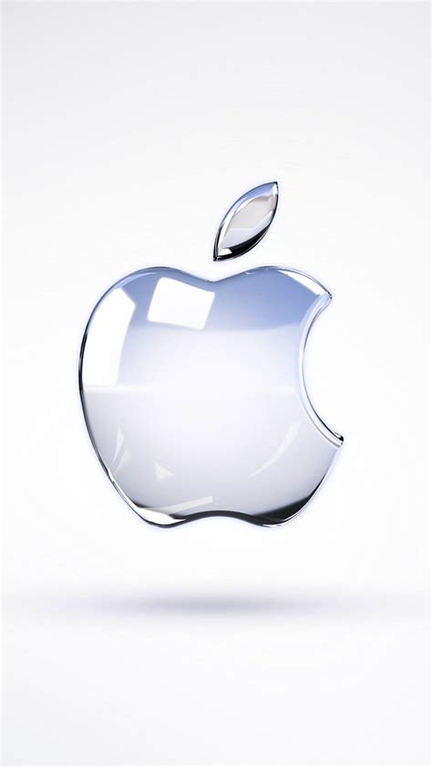 apple glass logo  render iphone  wallpaper hd