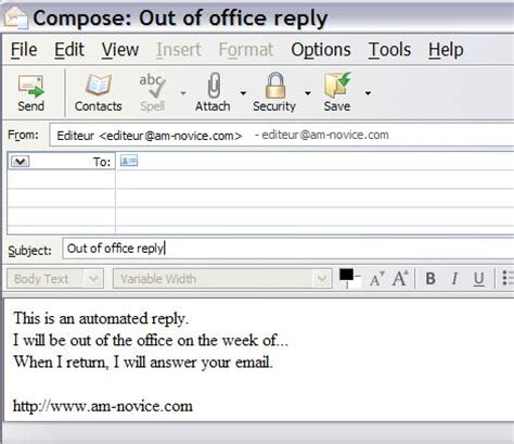automatic reply email template best photos of out of office notification templates out