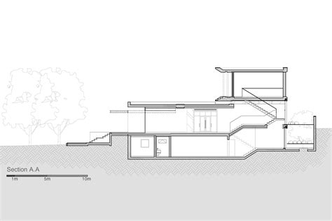 in the section mediterranean villa paz gersh architects archdaily
