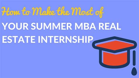 Summer Mba Interships Mexico by Mba A Student Of The Real Estate