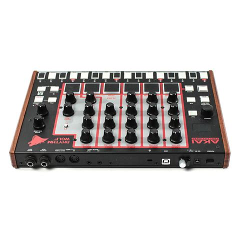 rhythm wolf drum machine and bass synth akai rhythm wolf analog drum machine bass synthesizer reverb