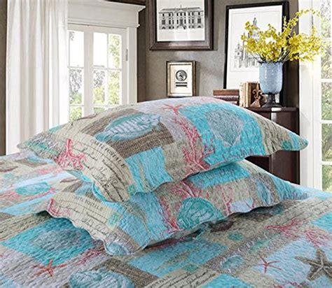 newrara seashell beach bedding queen beach theme quilt set beach bedspreadpatchwork quilt buy