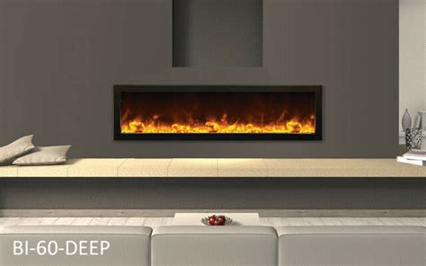 60 electric fireplace amantii bi 60 panorama series built in linear electric fireplace ebay