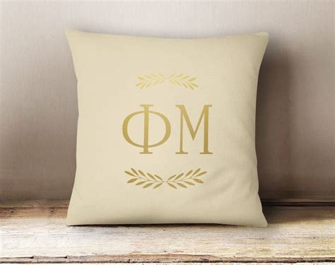 Mu Foil phi mu foil letters pillow sale 34 95 gear 174