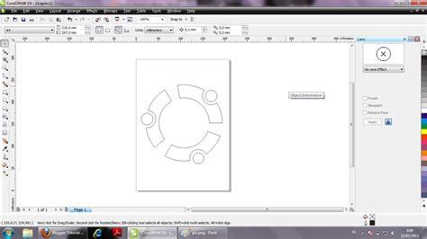 tutorial logo ubuntu coreldraw tutorial coreldraw membuat logo ubuntu hanya dengan trim