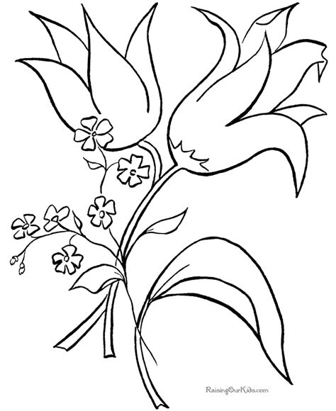 printable flower coloring pages flower coloring pages printable flower coloring page