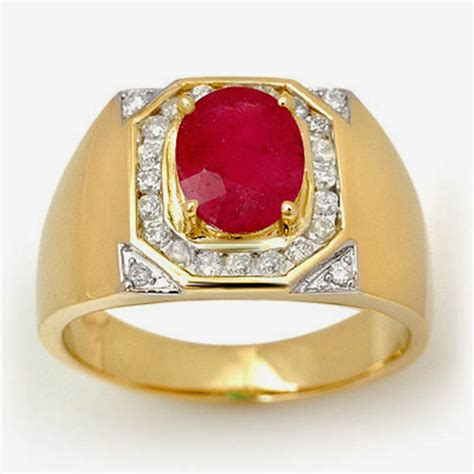 and fashion mens wedding gold rings ruby