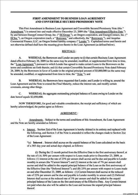 commercial loan agreement commercial loan agreement template sletemplatess