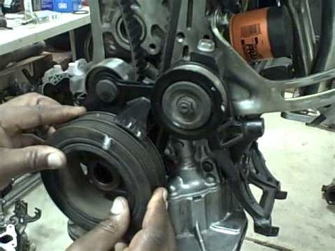 getting the timing belt past motor mount of toyota corolla