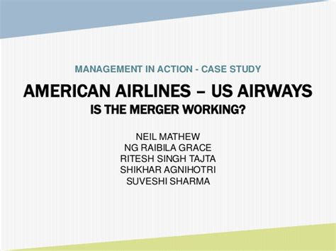american airlines merger management in study