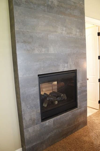 Ceramic Tile Fireplace by Tile Fireplace Modern Indoor Fireplaces Kansas City