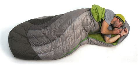 Light Weight Down Comforter First Look Spoon Shape Sleeping Bag Allows Side