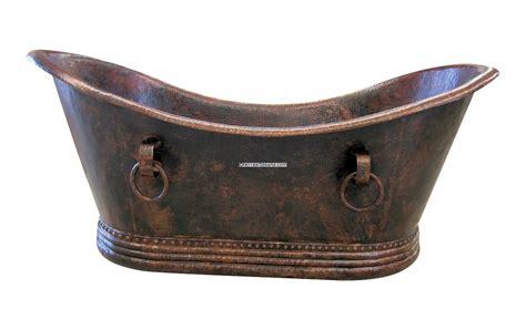 mexican copper bathtub grand slipper terra artesana