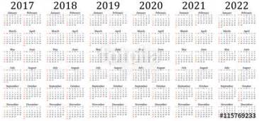 Calendar 2018 And 2019 And 2020 Quot Six Year Vector Calendar 2017 2018 2019 2020 2021