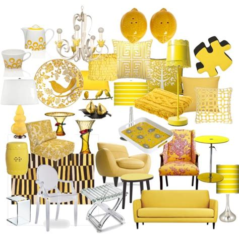 citrus yellow home decor polyvore