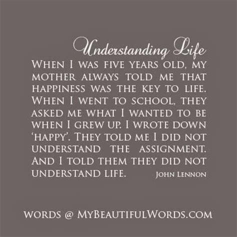 quote by john lennon when i was 5 years old my mother john lennon quotes about life quotesgram