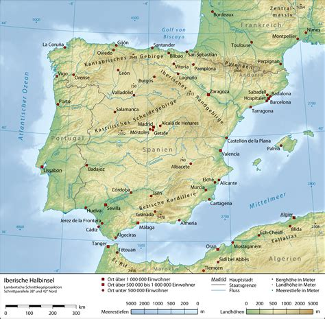 iberian peninsula map iberian peninsula physical map spain mappery