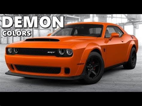 dodge challenger demon all colors youtube