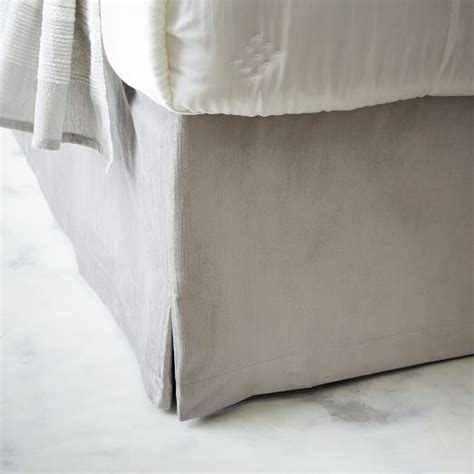 west elm bed skirt luster velvet bed skirt west elm