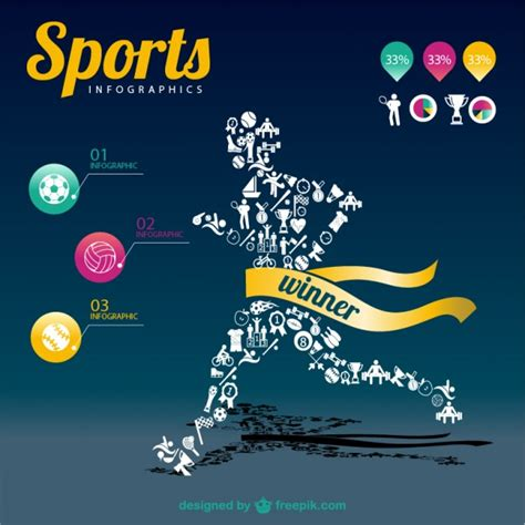 sports infographic champion template vector free download