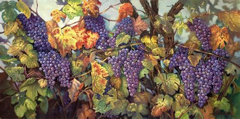 parable of the vine painting by carolyn sterling