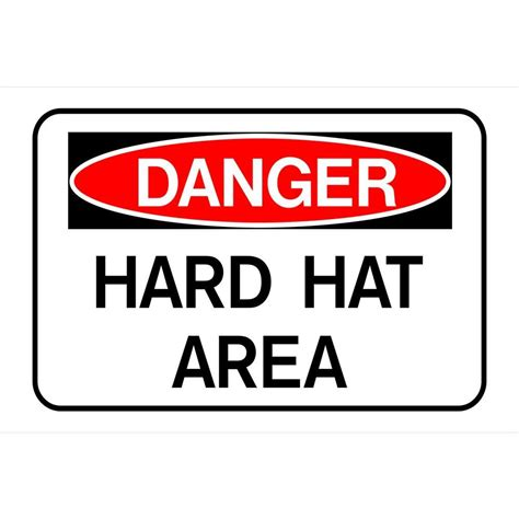 printable hard hat area sign the hillman group 8 in x 12 in plastic danger hard hat