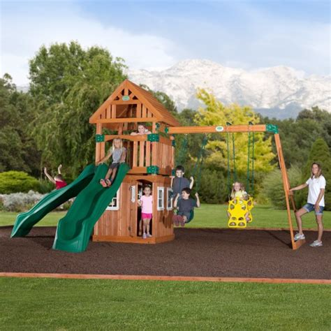 cedar backyard playsets backyard discovery 54233com outing wooden playground playset