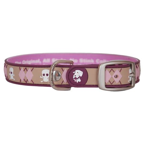 waterproof collars dublin al style no stink waterproof collar argyle sangria dogorama