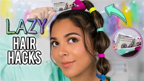 diy hairstyles youtube diy hair hacks every lazy person should know quick easy