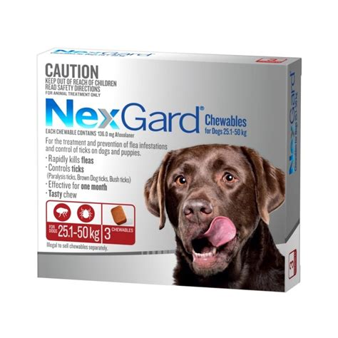 flea chewables for dogs nexgard flea and tick chew for large 25 1 50kg petbarn