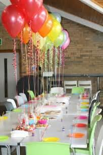 mottoparty dekoration wunderbare tischdeko zum kindergeburtstag
