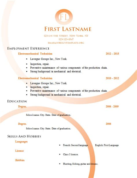 edit resume format templates free cv templates to edit 554 to 560 free cv template