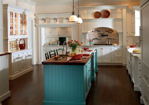 Cottage Style Kitchen Island Custom Cabinetry Project Gallery Plain Fancy Cabinetry