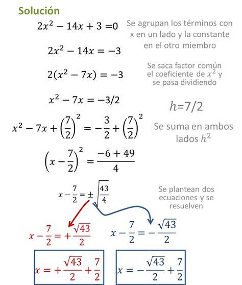 metodo de minimos cuadrados ejemplos resueltos ecuaci 243 n cuadr 225 tica o de segundo grado m 233 todos para