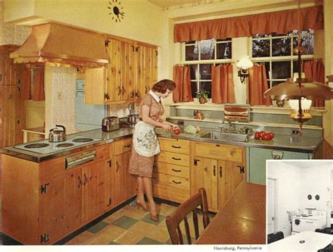 knotty pine kitchen cabinets for sale wood mode kitchens from 1961 slide show of 15 photos