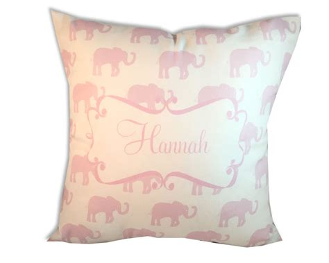 Pink Elephant Pillow by Personalized Baby Pillow Pink Elephant Pillow By