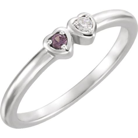 silver 1 to 5 stones s ring