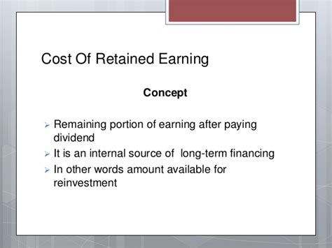Retain Earing Mba by Corporate Finance