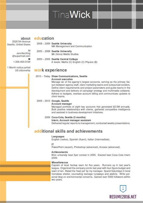 Updated Resume Format by Updated Resume Format 2016 Updated Structure