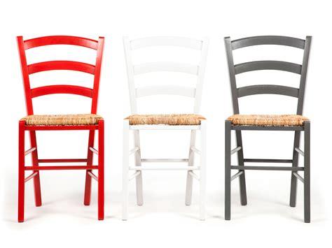 chaise en bois avec assise en paille lot de  palma