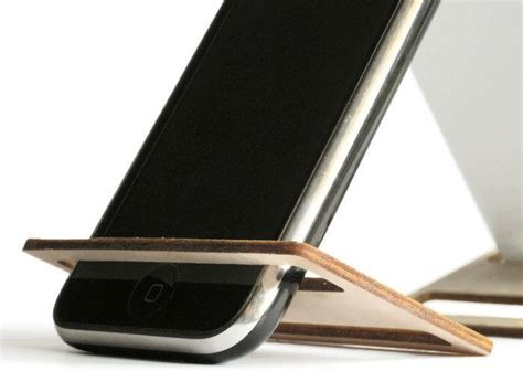 diy phone stand for desk laser cut wood phone holder office desk accessories cell